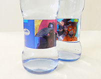 Paintings on mineral water labels