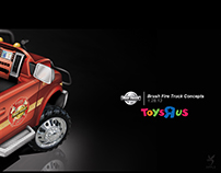 Kid Trax Brush Fire Truck Dodge Licensed 12V Ride On.