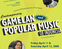 Gamelan Popular Music of Indonesia Concert Poster