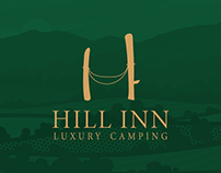 "Logo for ""HILL INN"", luxury camping place"