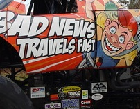 Bad News Travels Fast Monster Truck graphics