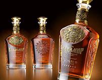 """Cognac """"Князь Владимир"""". Label and bottle design."""