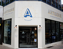Sign painting for Artiserie Sandwich Boutique (NYC)