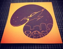 Retro Future Silkscreen Print