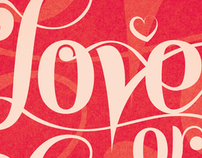 Love or Lust - typography