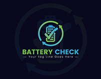 Battery Check Logo Design