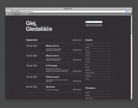 Glej Theatre / Web Design
