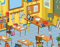 School Classroom Cartoon Vector Pack