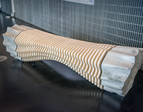 Fluidity Robotic Fabricated Bench