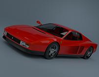 Ferrari Testarossa render