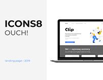 ICONS8 — создание Landing Page