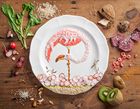 A Tribute to Budgie - Food Illustration