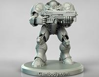 Terran Marine 3D Model