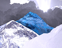 one 2 sec animation a day - mount everest