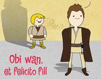 "tshirt illustration ""obi wan"" for etfelicitofill.cat"