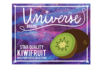 Universe Fruit Crate Label