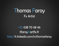 Thomas Faroy DemoReel 2012