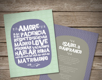 Isabel & Gianfranco | Wedding Invitations
