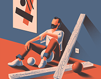 Sitting Man - personal work