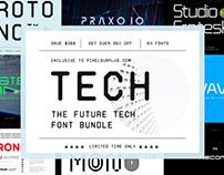 The Future Tech Font Bundle - Save $330