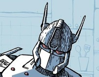 Optimus Eating