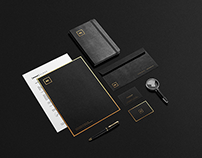 Black And Gold Stationery Mock Up