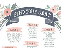 Design & Illustrations for Isabel & juan's wedding