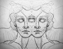 Pencil sketches Portrait