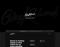 OlegKukharuk.com – ux designer's portfolio website