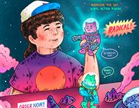 Radical! Momeow Toy Poster   海報, 插畫, 設計
