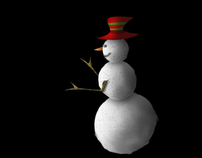 Snowman with the red hat