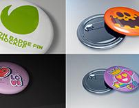 Button Badge Pin Mockup