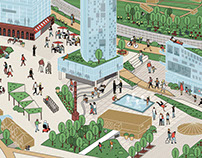 Architectural site illustration for Winkreative