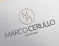Marco Cerullo boutique brand identity