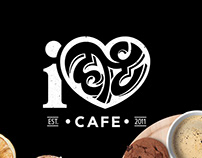 iheart cafe - Brand, Packaging and Murals