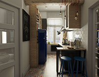Old tenement interiors