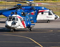 Bristow Helicopter Annual Report photography stills