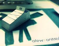 AFEW x Onitsuka Tiger Papertoy