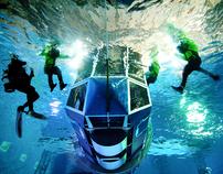 HUET underwater survival photography stills