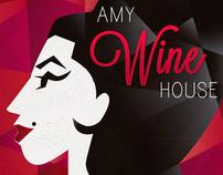"Rótulo Vinho - Amy ""Wine""House"