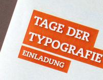 Tage der Typografie