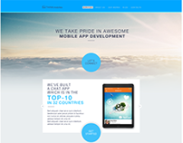 Concept of THINKMOBILES landing page