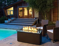 Outdoor Plateau Coffee Fire Table