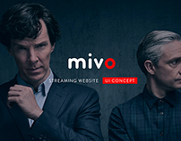 Mivo - Streaming website - UI concept