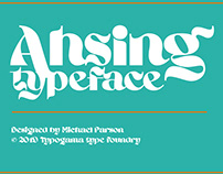 New: Ahsing typeface