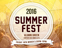 SUMMERFEST 2016 Poster and flyers