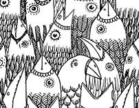 b&w fabric patterns