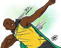 To Di World (Usain Bolt Illustration)