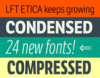 LFT Etica, 24 NEW FONTS!