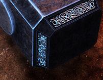 3D - Realistic Thor's Hammer (Mjolnir)